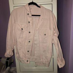 Brandy Light pink jean jacket